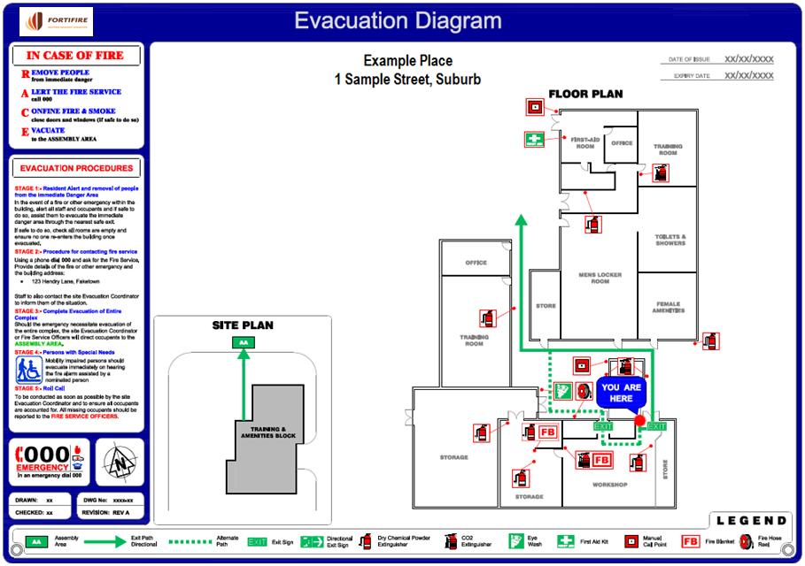 Ezblueprintcom evacuation plan template peccadillo fire evacuation plan template qld plan template sciox Images